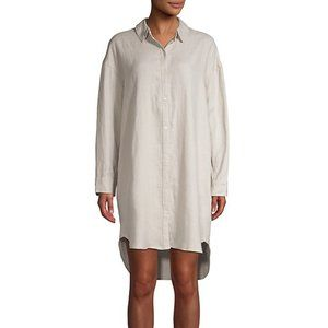 NWT James Perse Linen Shirt dress DRIFTWOOD Size 1